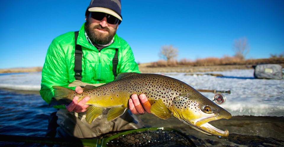Catching-Big-Trout-On-The-North-Platte-River-In-The-Winter