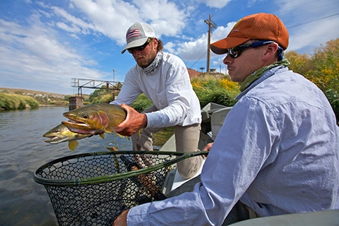 Double-Header-Trout-on-the-North-Platte-River
