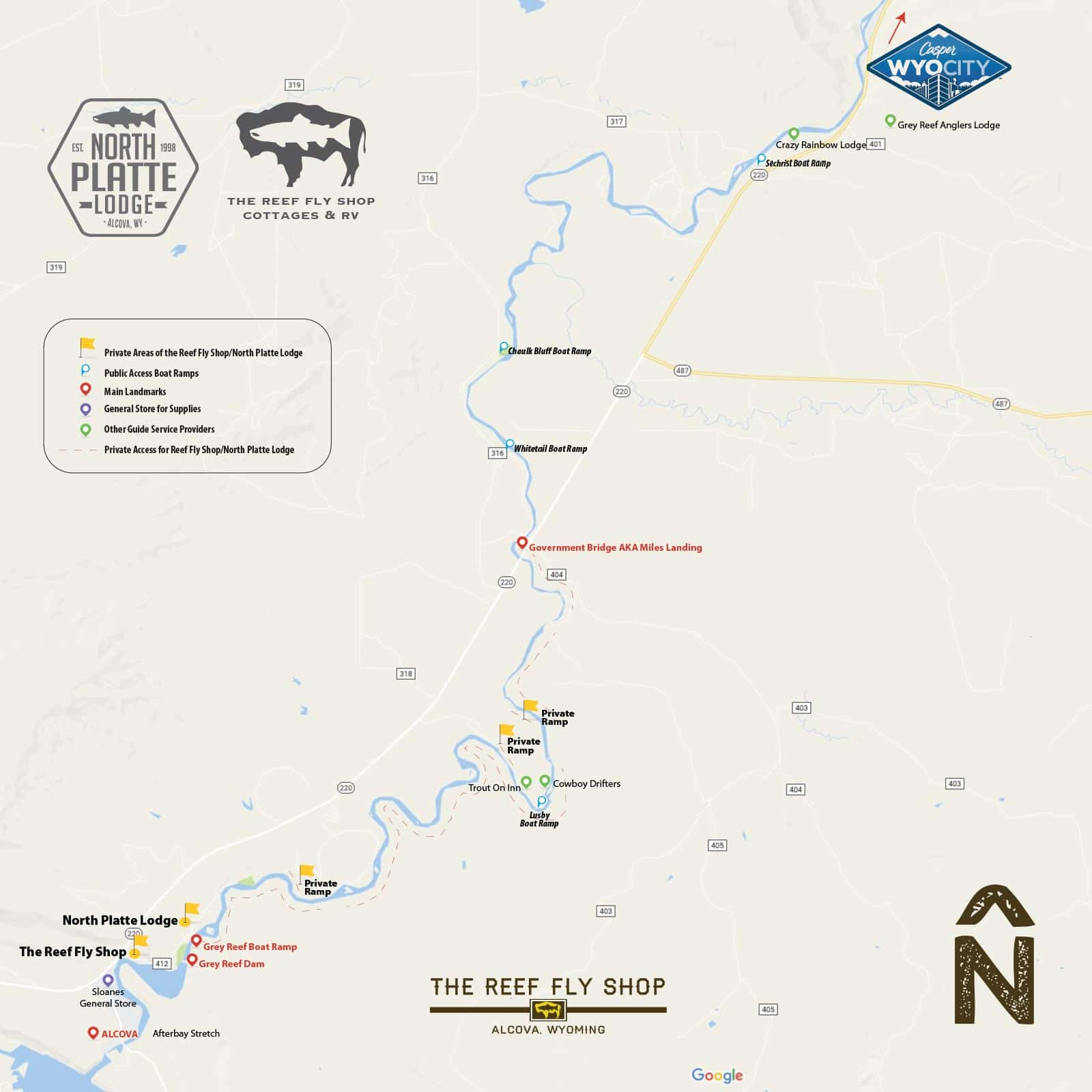 Private Access Fly Fishing Guides  Grey Reef on the North Platte